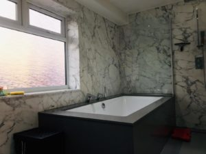 Arabescato Marble combined with Grigio Londra Quartz in UK