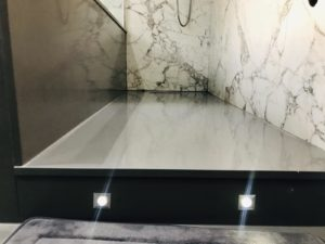 Arabescato Marble combined with Grigio Londra Quartz in london