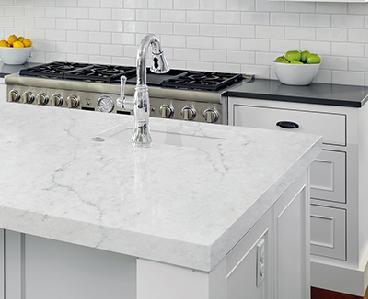 White Marble Kitchen Worktops in London