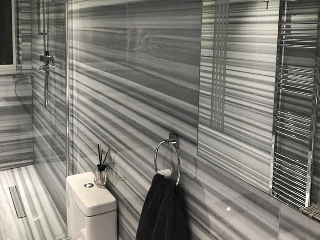 Striato Olympo Marble for bathroom in london