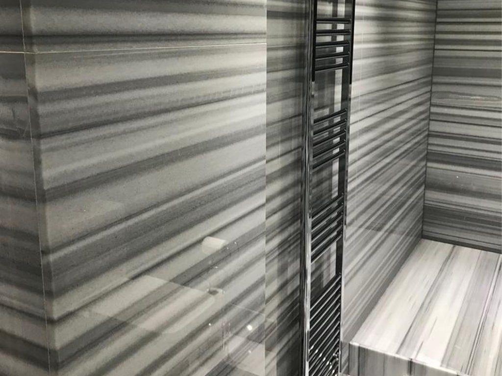 Striato Olympo Marble bathroom worktop
