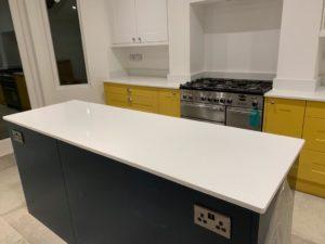 Unistone Eramosa White Polished Kitchen worktops