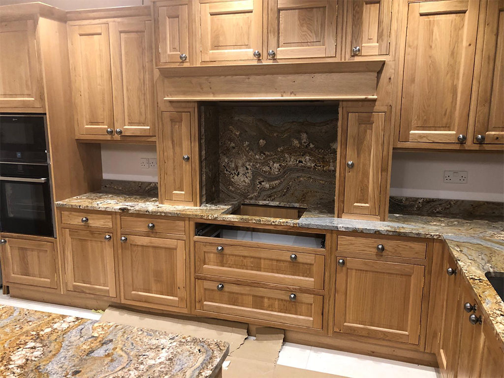 Paisley gold granite kitchen worktops in london